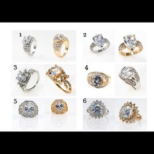Jewelry - Choose one. Special occasion rhinestone Ring.
